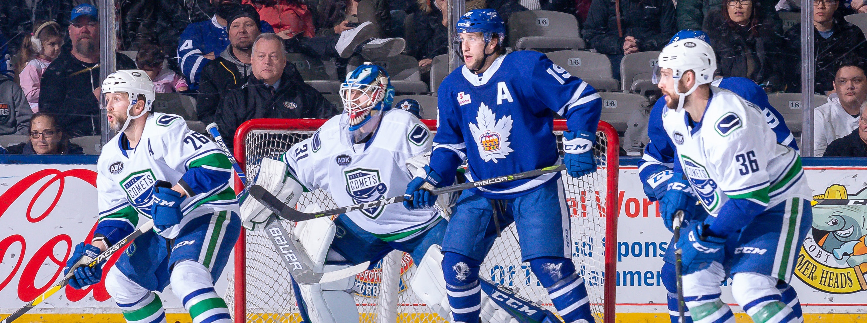 COMETS STREAK HALTED BY MARLIES