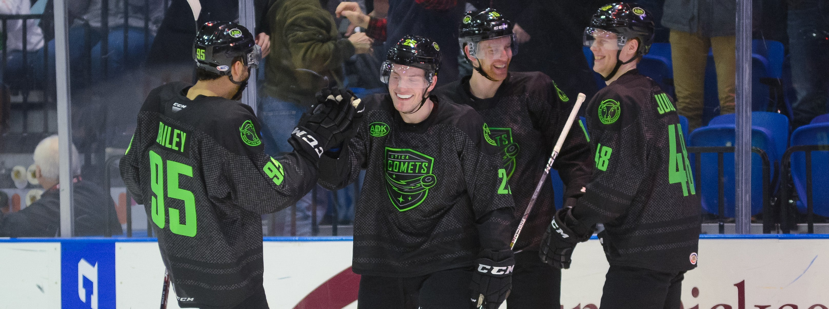 COMETS OUTLAST WOLF PACK IN OVERTIME