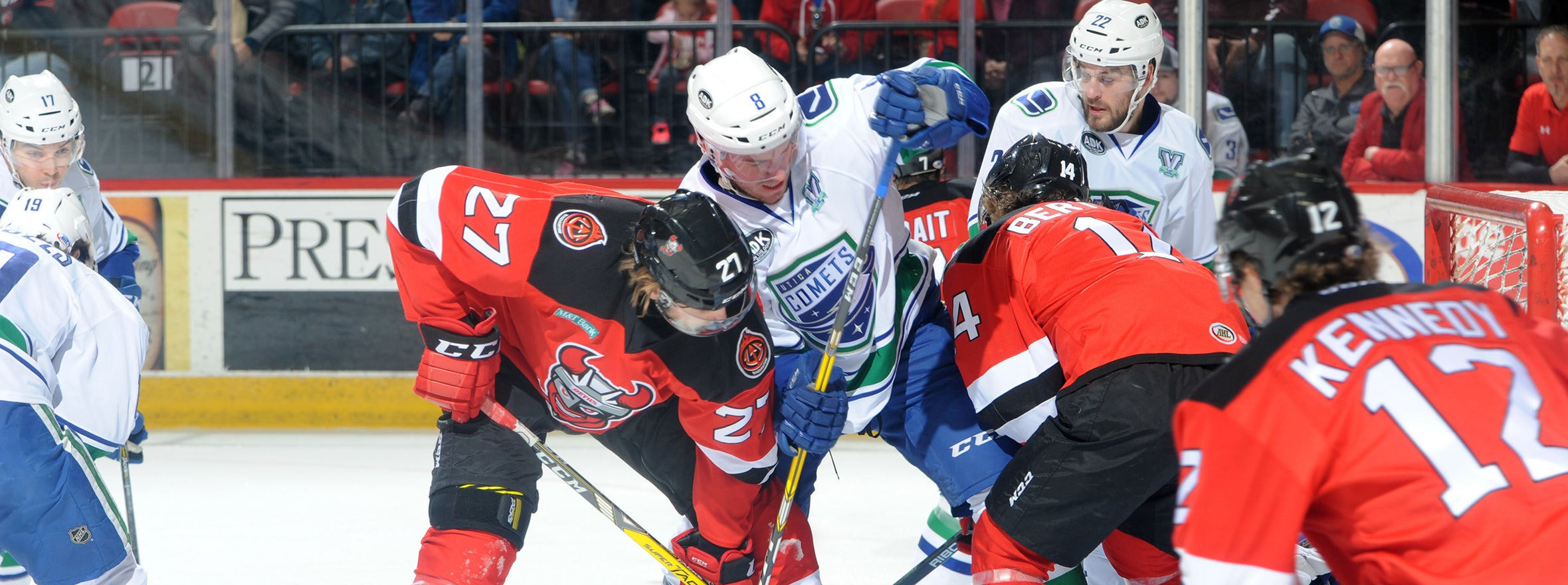 COMETS ROUTED BY DEVILS