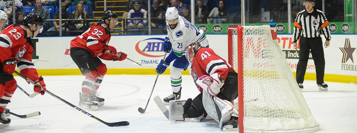 COMETS DROP DEFENSIVE BATTLE TO DEVILS
