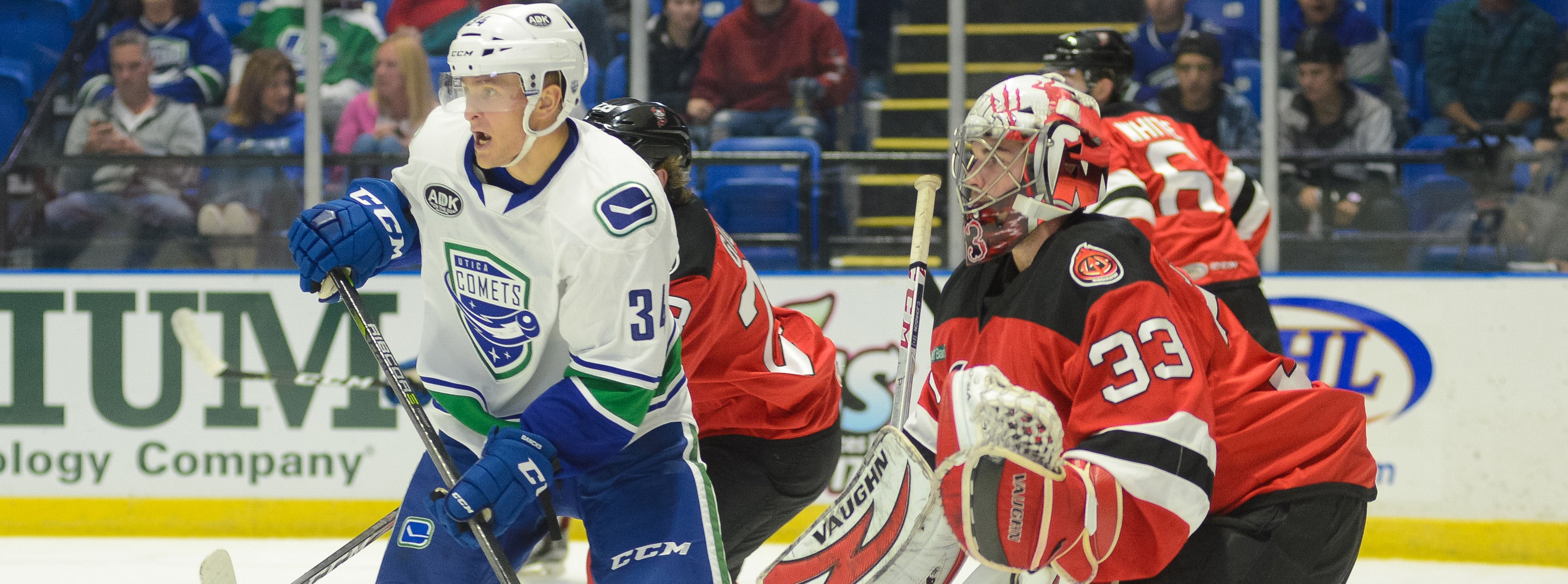 COMETS TANGLE WITH DEVILS FOR FIRST TIME THIS YEAR