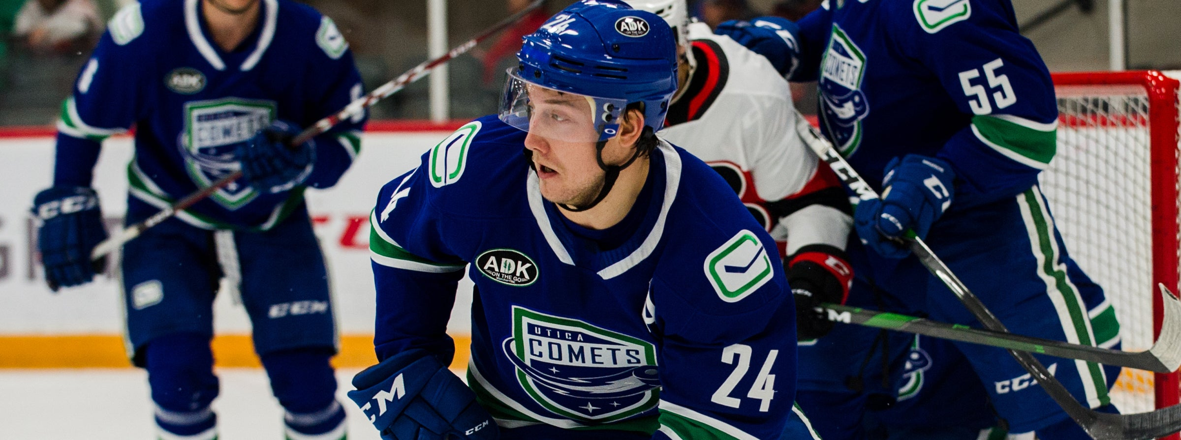 BOUCHER BREAKS RECORD AS COMETS TOPPLE SENATORS