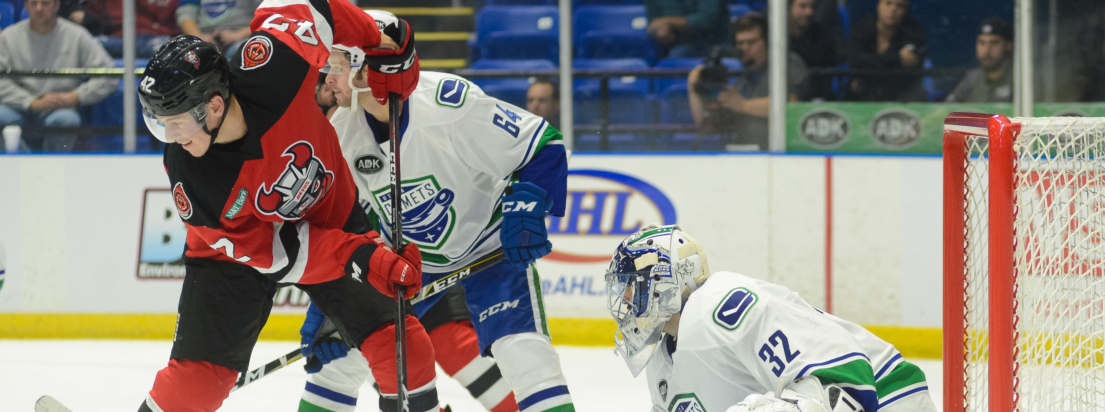 COMETS HEAD SOUTH FOR DUEL WITH DEVILS