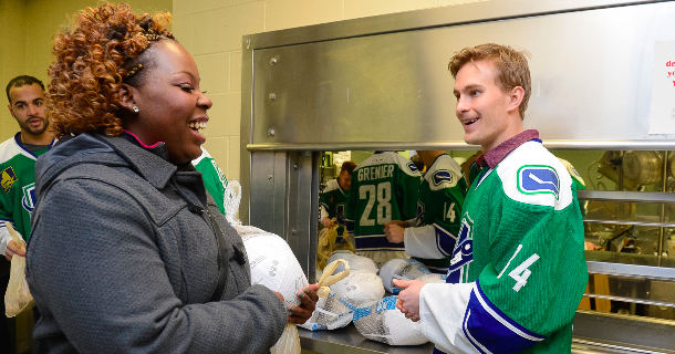 Comets Donate to the Rescue Mission