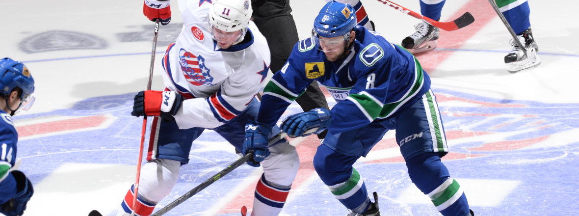Comets Upended by Amerks