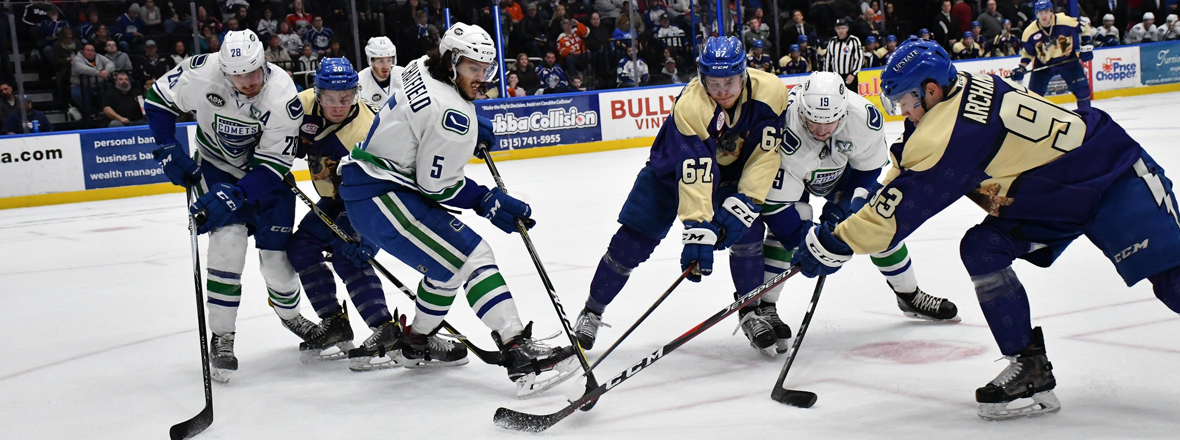 CRUNCH OUTLAST COMETS IN GOALTENDING DUEL