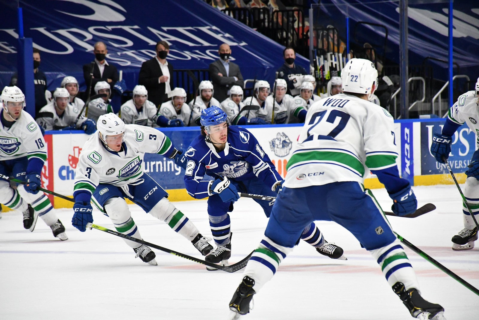 COMETS STUMBLE IN ROAD LOSS TO CRUNCH