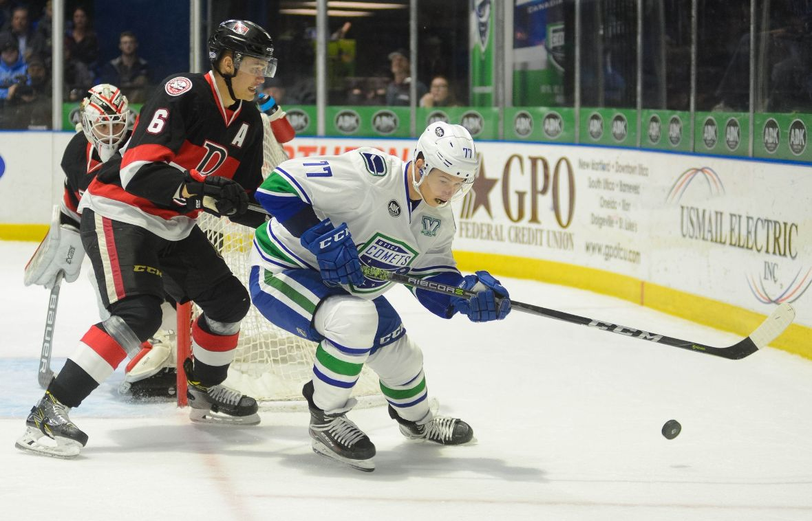CANUCKS REASSIGN NIKOLAY GOLDOBIN TO THE COMETS
