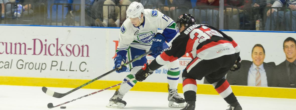 CANUCKS RECALL FORWARD ADAM GAUDETTE