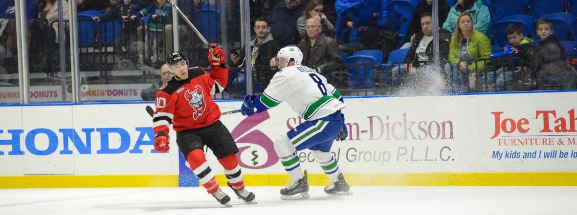 COMETS WRAP UP FOUR-GAME HOMESTAND AGAINST DEVILS