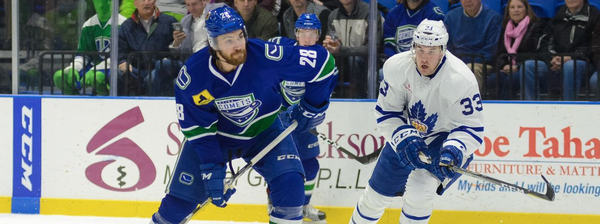 COMETS WIN NINTH STRAIGHT ON HOME ICE