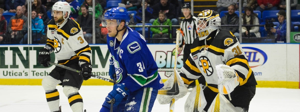 COMETS CONCLUDE HOMESTAND AGAINST BRUINS