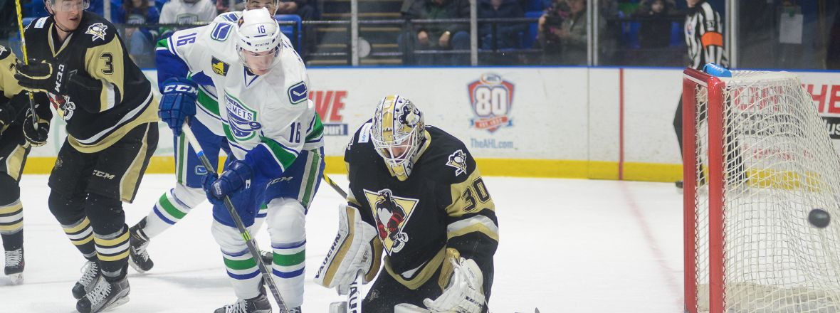 COMETS MEET PENGUINS FOR FIRST TIME THIS SEASON
