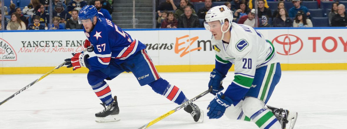 COMETS TAKE TO ROCHESTER AS PLAYOFF PUSH CONTINUES
