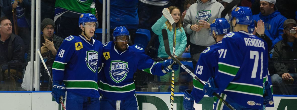 COMETS SECURE REGULATION WIN AGAINST PENGUINS