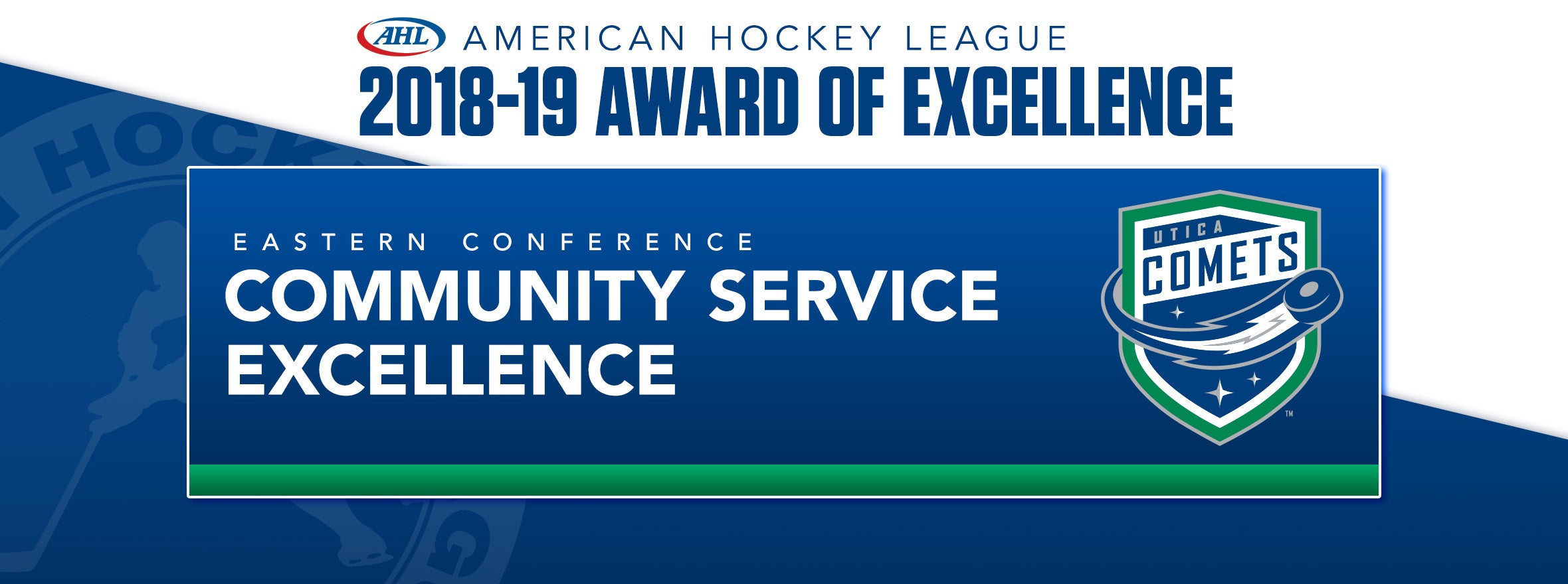COMETS WIN COMMUNITY SERVICE EXCELLENCE AWARD