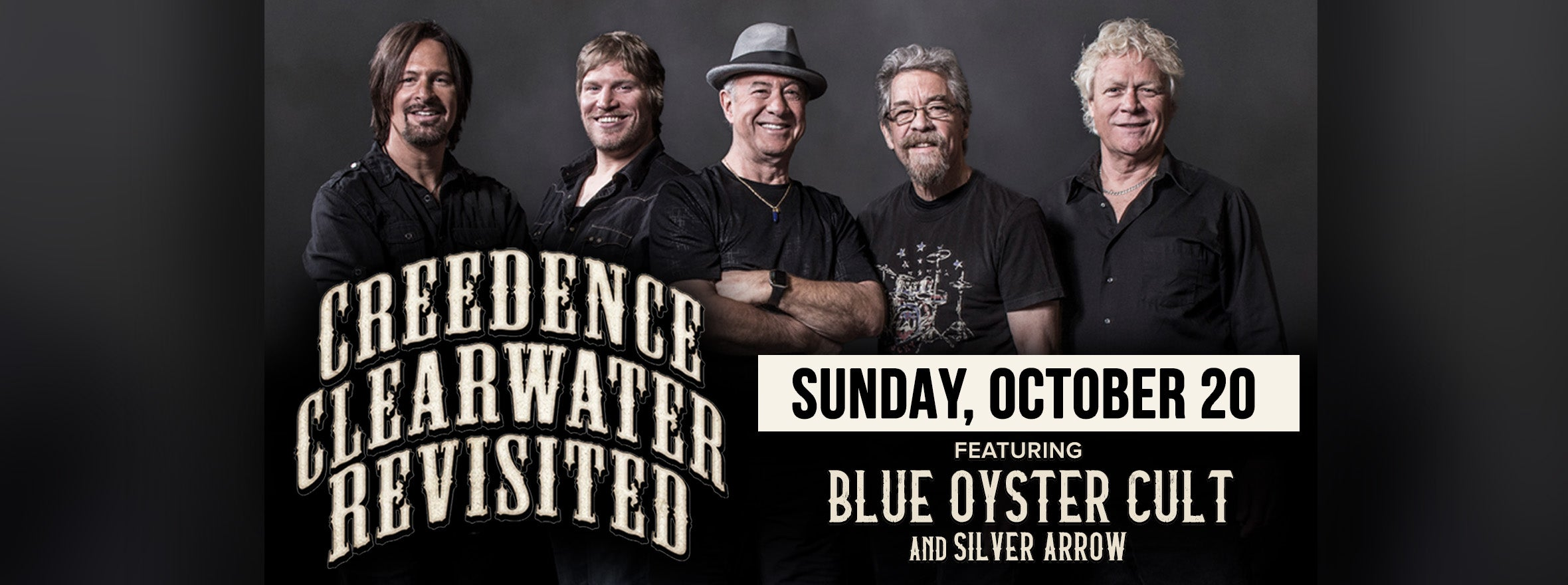 CREEDENCE CLEARWATER REVISITED TO HIT UTICA