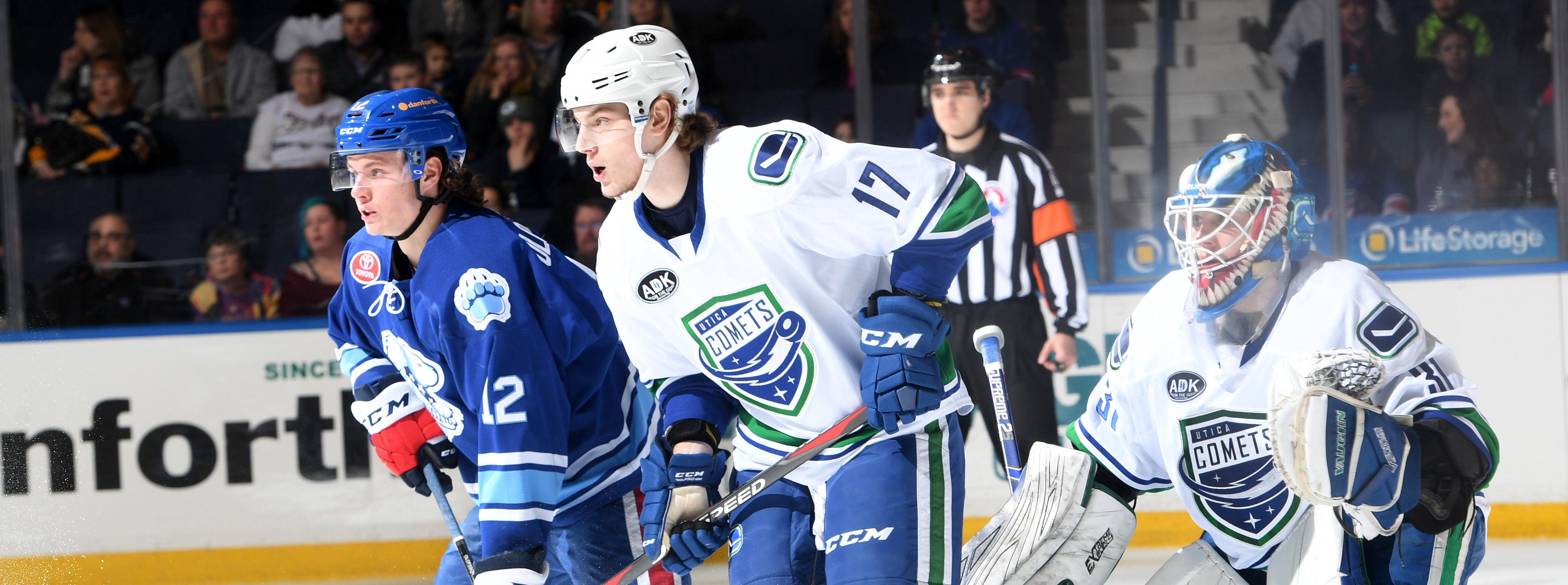 KULBAKOV'S 48 STOPS HELP COMETS TO POINT