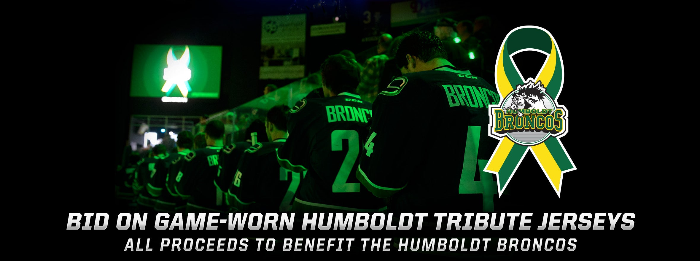 UTICA COMETS HUMBOLDT TRIBUTE JERSEY AUCTION