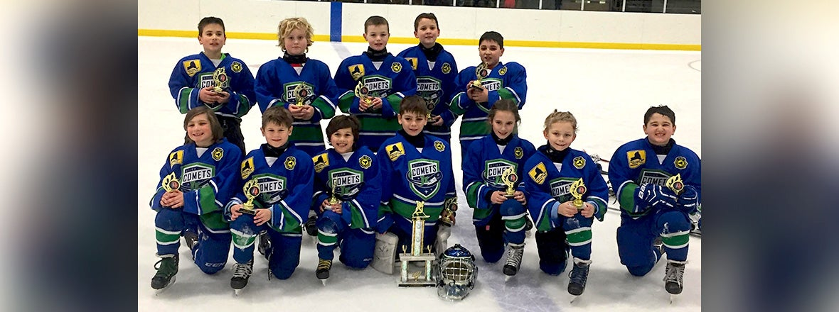 JR. COMETS MITE RED WINS CHAMPIONSHIP