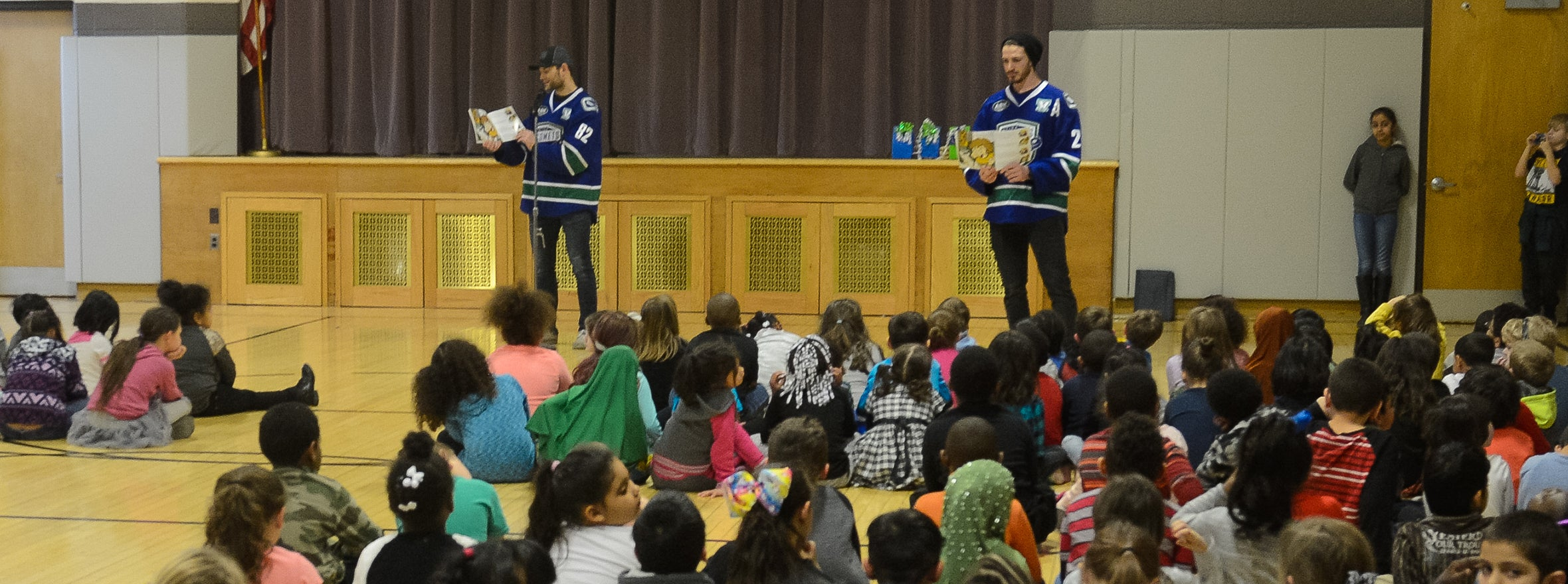 COMETS KICK OFF 'SKATE INTO READING' INITIATIVE