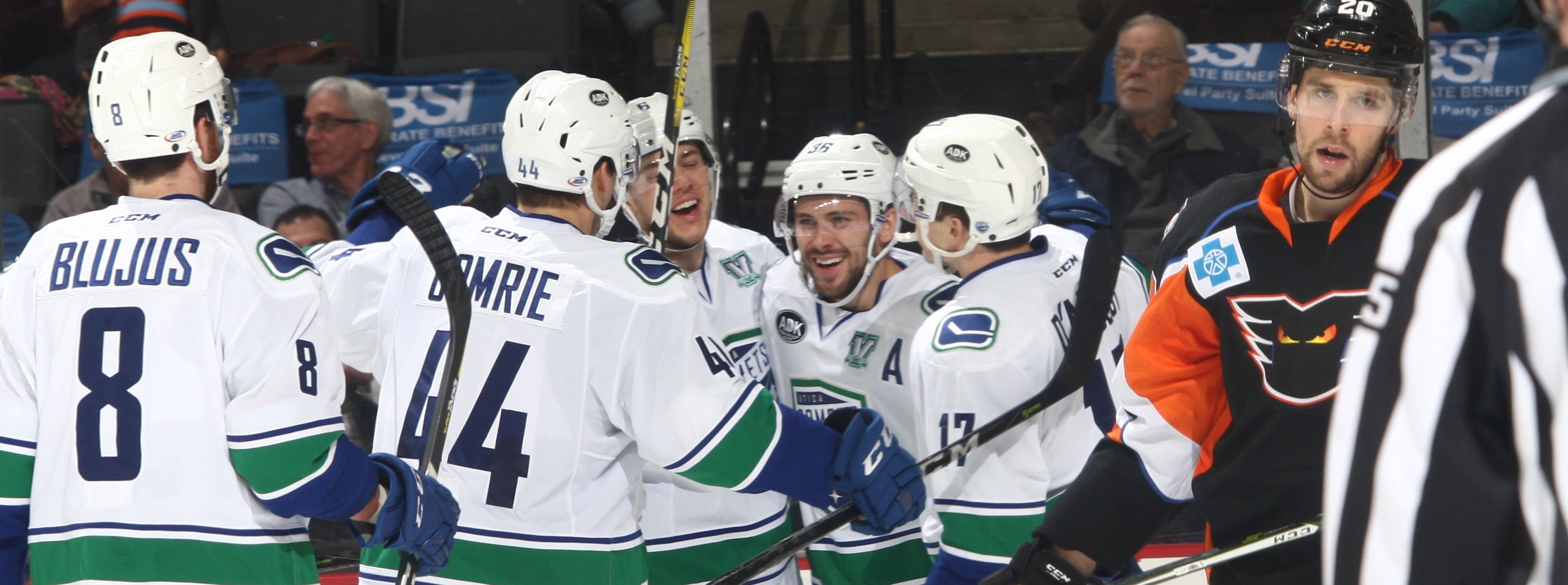 HAMILTON'S TWO-GOAL NIGHT LIFTS COMETS PAST PHANTOMS IN OVERTIME