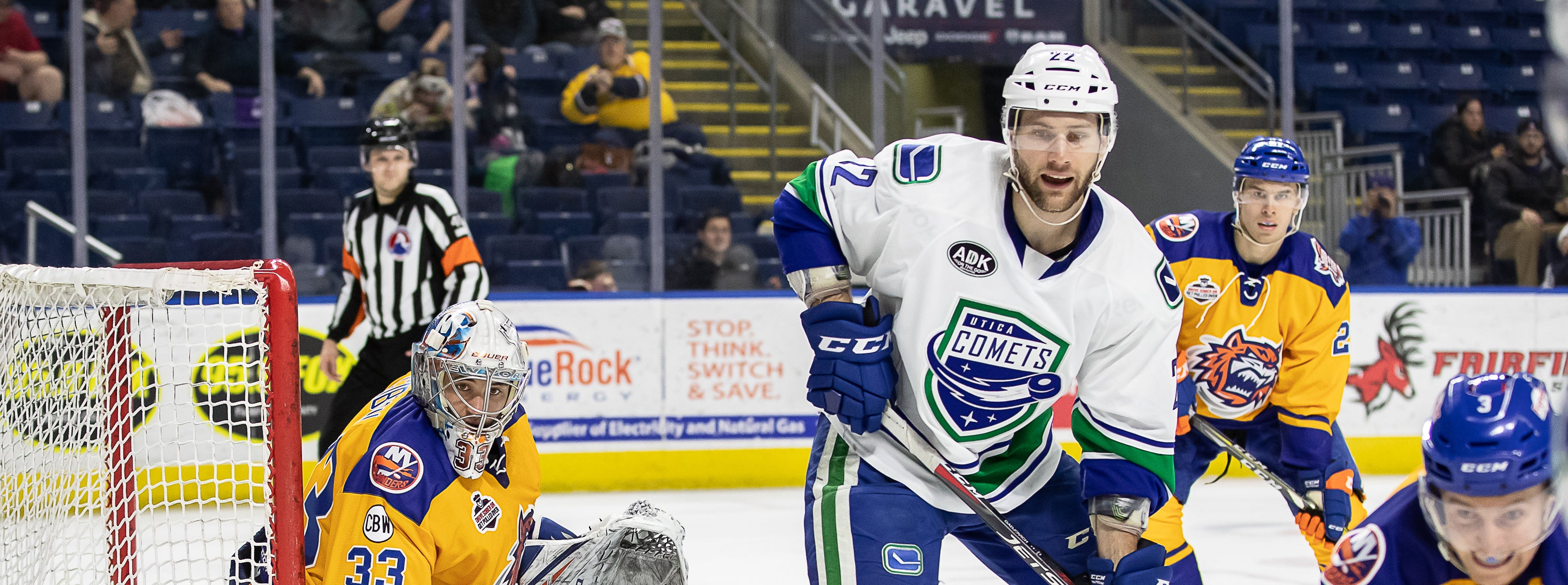 COMETS EARN ROAD POINT IN OVERTIME LOSS TO BRIDGEPORT