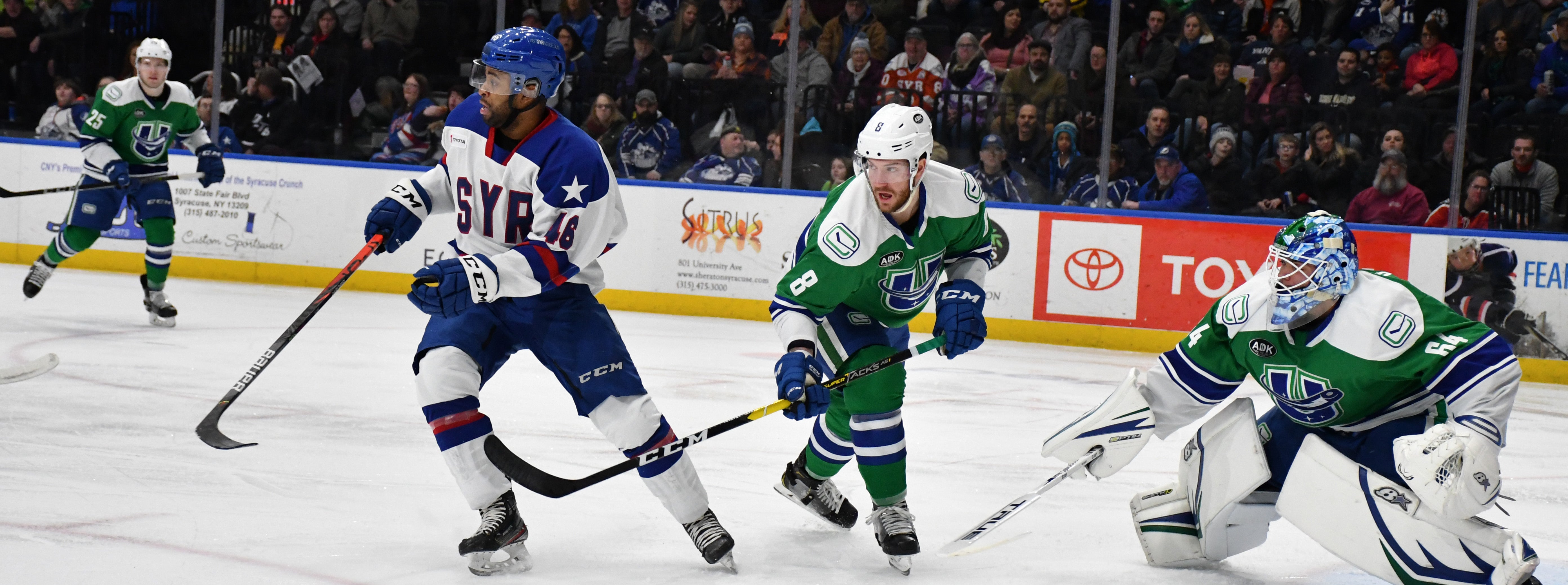 COMETS COMEBACK ATTEMPT STALLED IN SYRACUSE