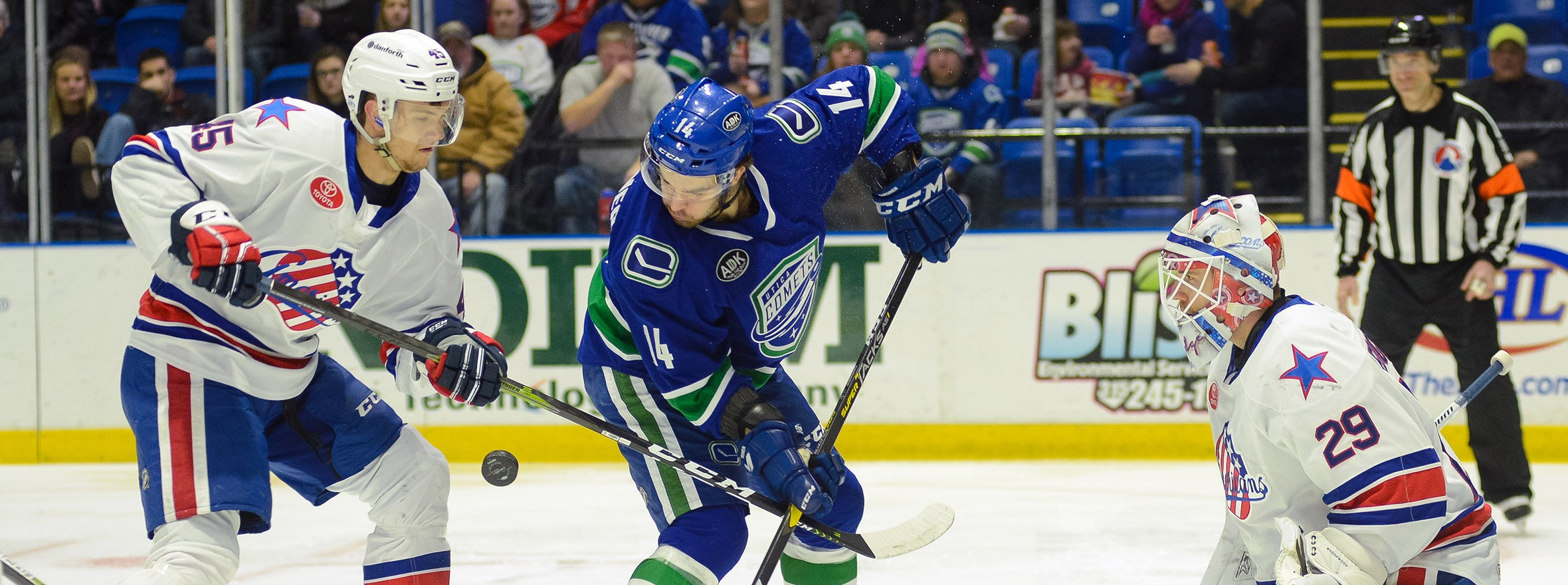COMETS FALL IN OVERTIME, EXTEND POINT STREAK TO EIGHT