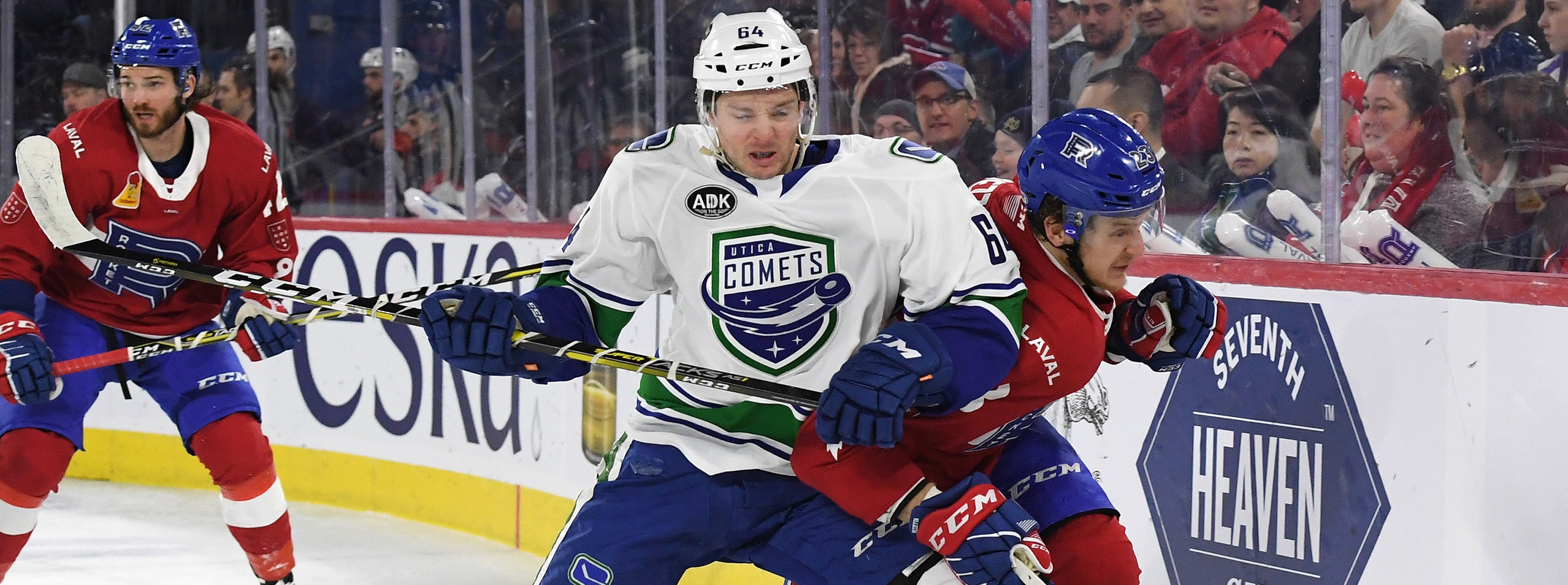 COMETS GROUNDED BY ROCKET
