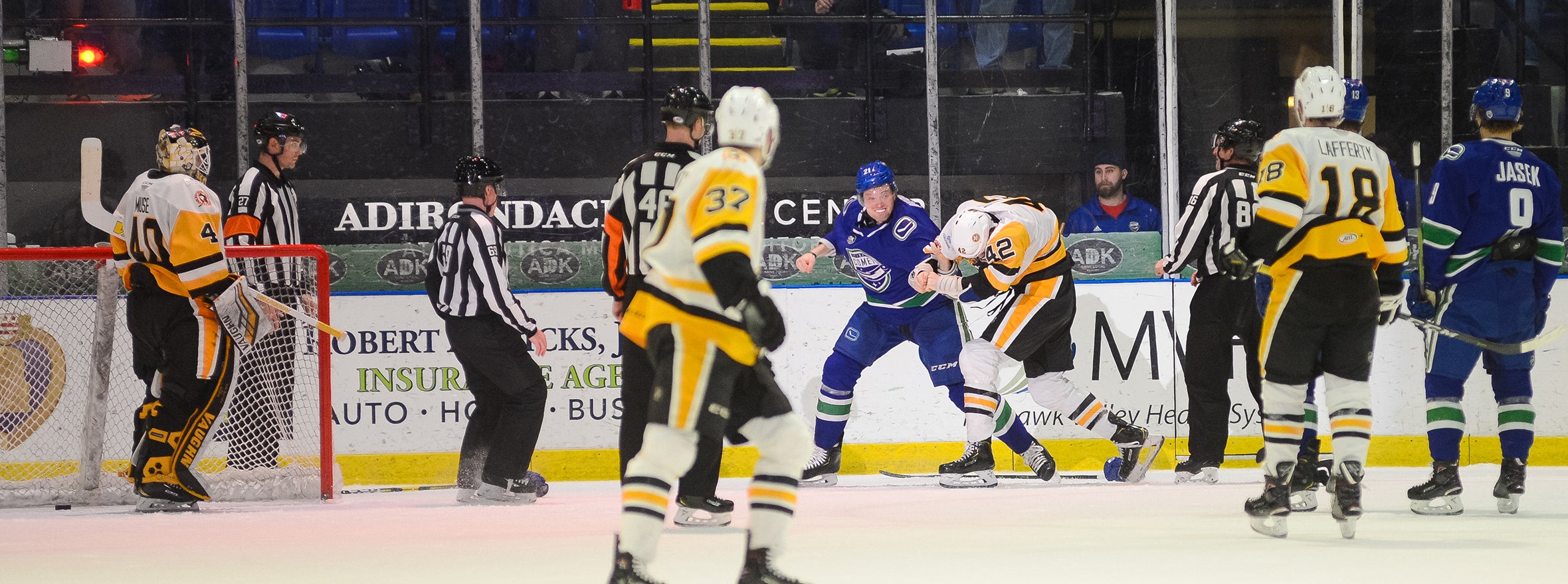 BOUCHER'S HAT TRICK LEADS COMETS TO WILD WIN