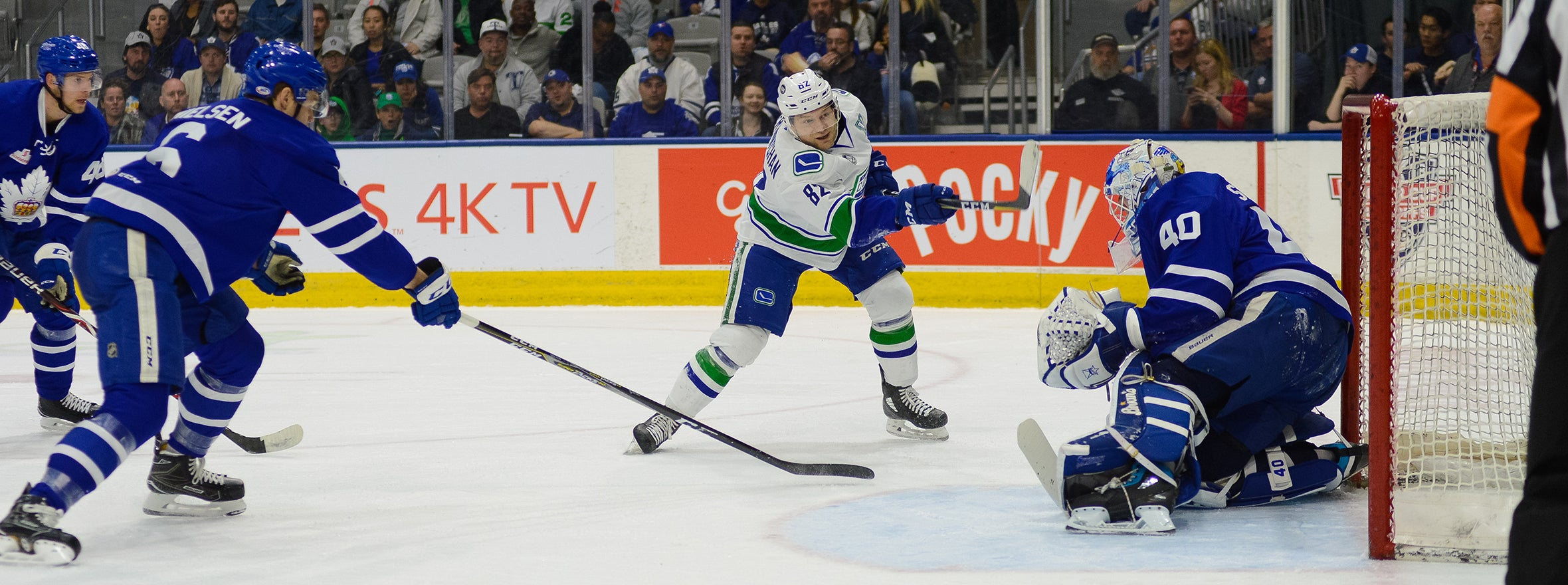 COMETS OVERPOWERED BY MARLIES IN GAME TWO