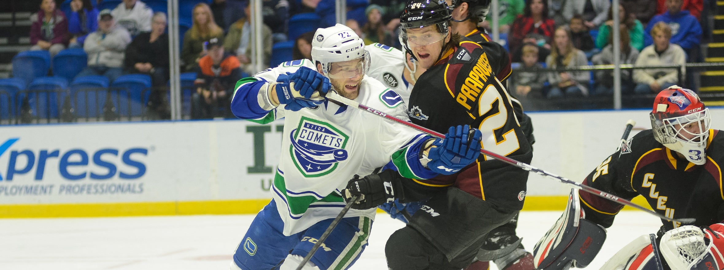 COMETS FALL SHORT AGAINST CLEVELAND