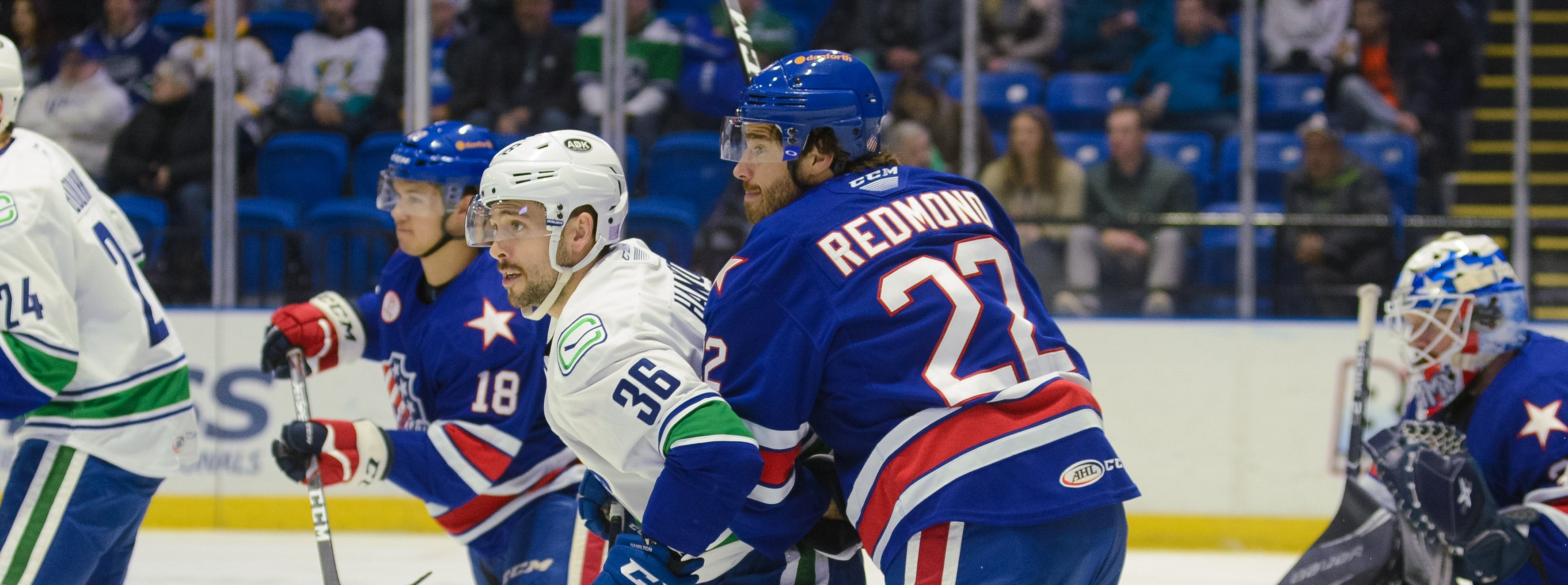 FOUR UNANSWERED GOALS SINK COMETS IN LOSS TO AMERKS