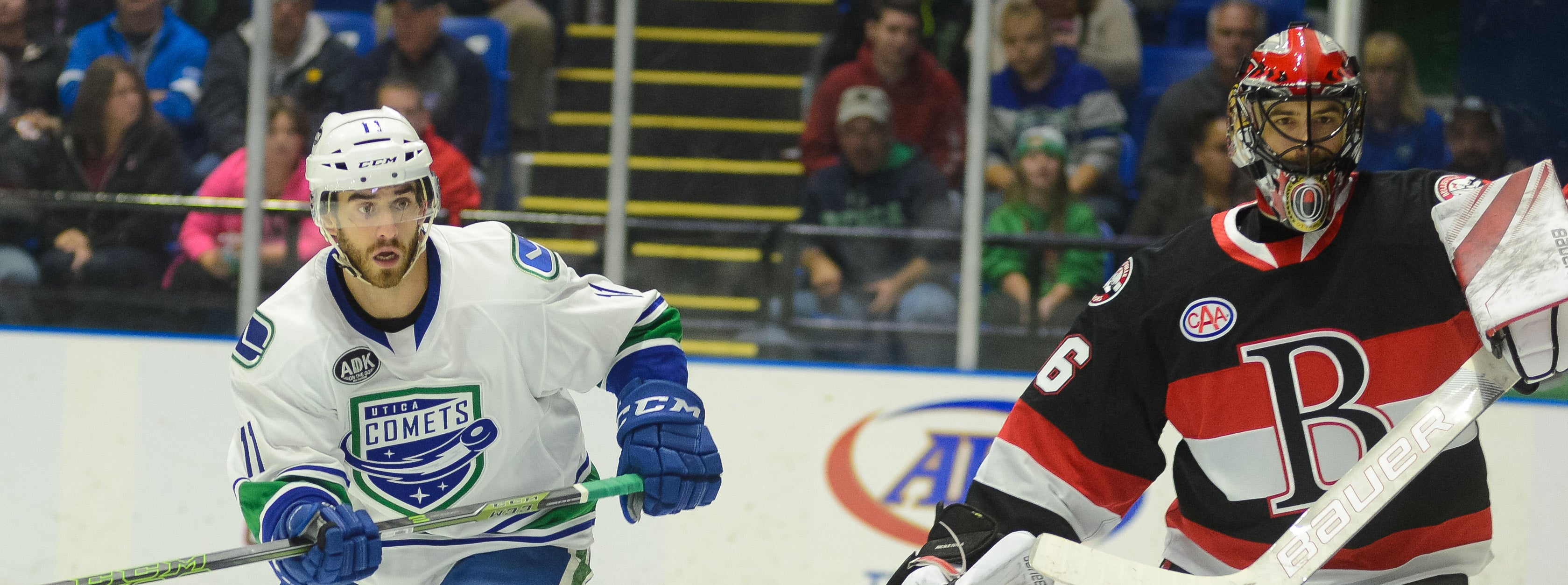 COMETS GO FOR THIRD STRAIGHT WIN AGAINST BELLEVILLE