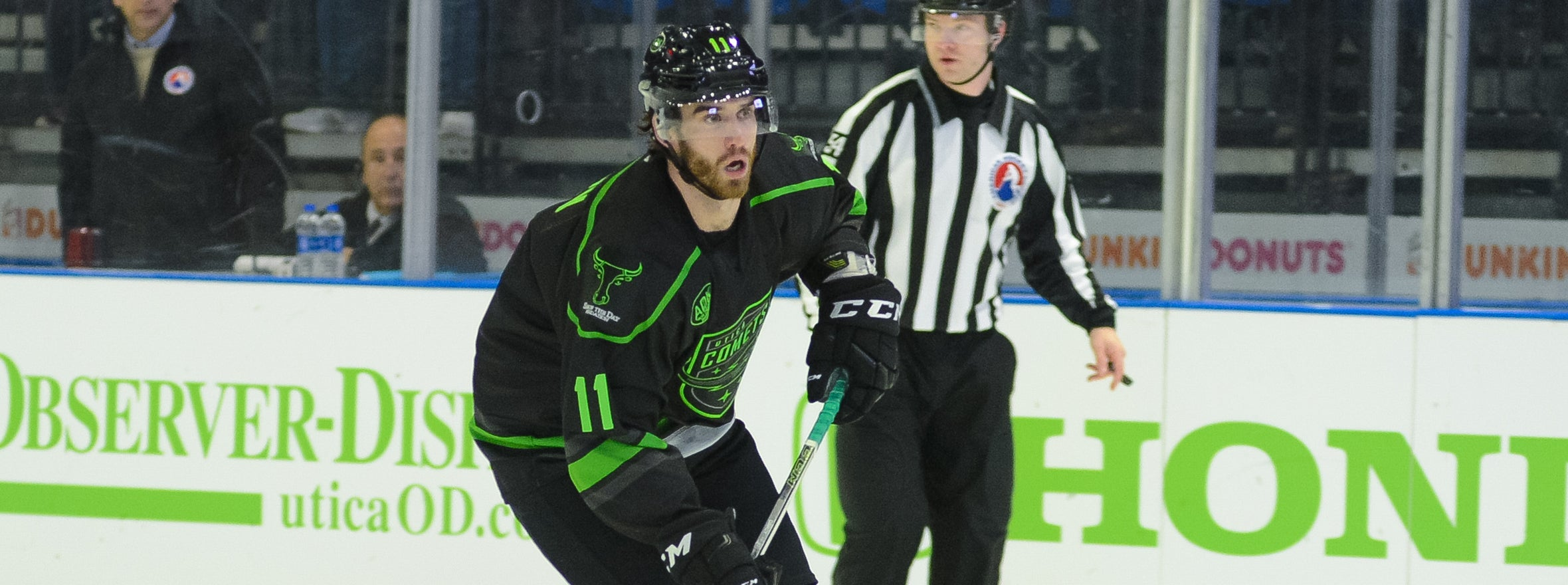 COMETS ALLOW FIVE UNANSWERED GOALS IN LOSS