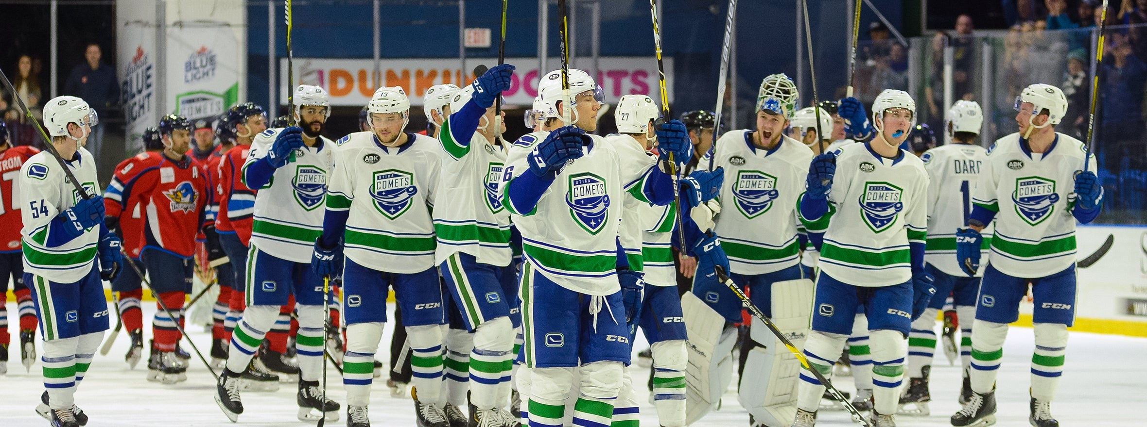 COMETS SCORE FOUR UNANSWERED GOALS IN 5-2 WIN