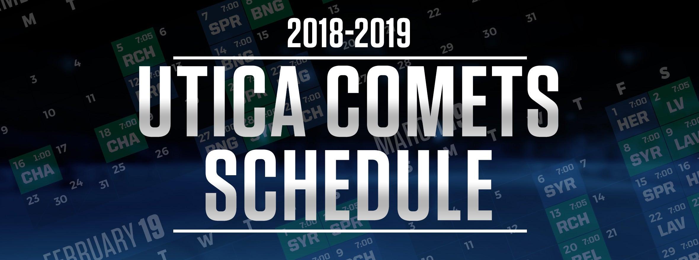 COMETS 2018-19 SCHEDULE RELEASED