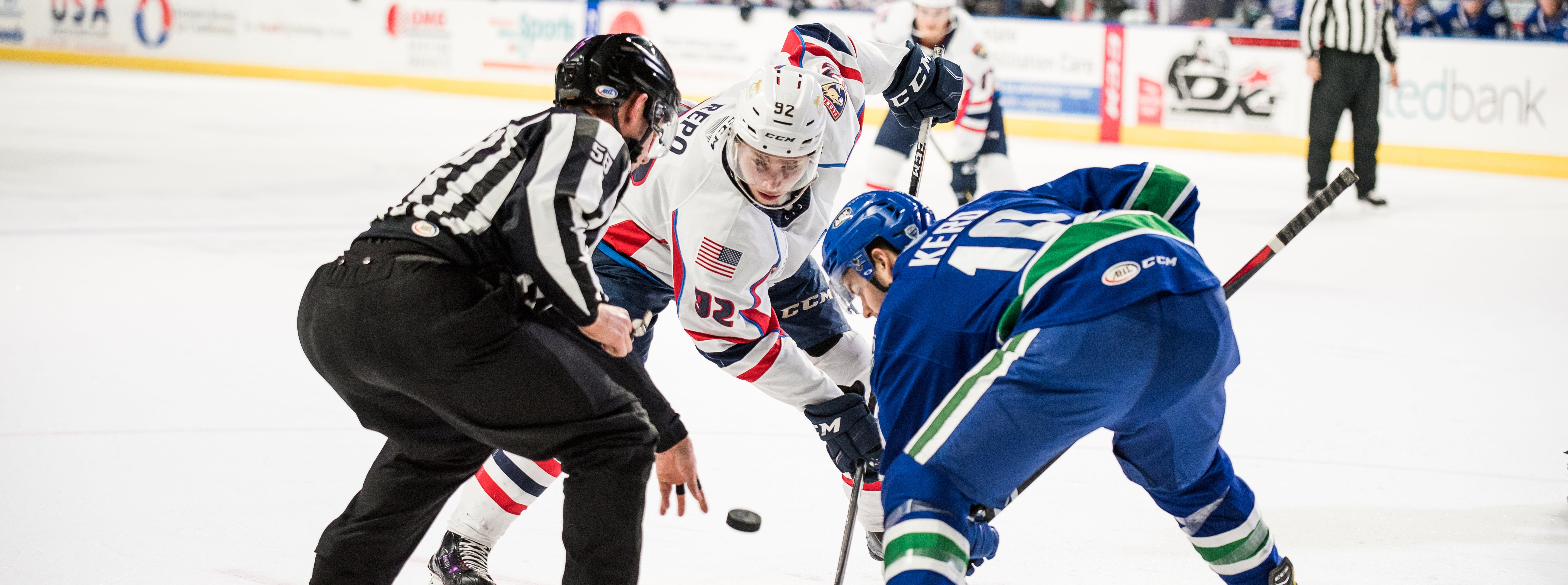 COMETS' POWER PLAY LEADS WAY TO ROAD WIN IN SPRINGFIELD
