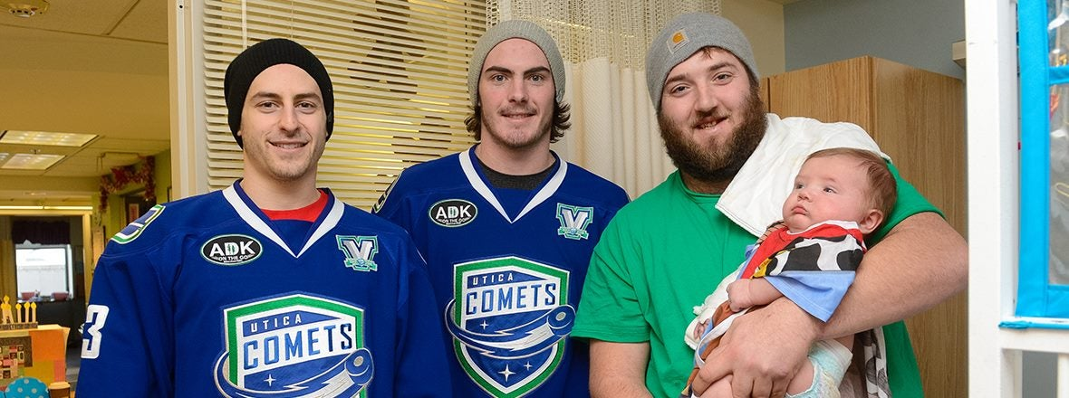 COMETS DELIVER HOLIDAY CHEER TO PEDIATRIC PATIENTS