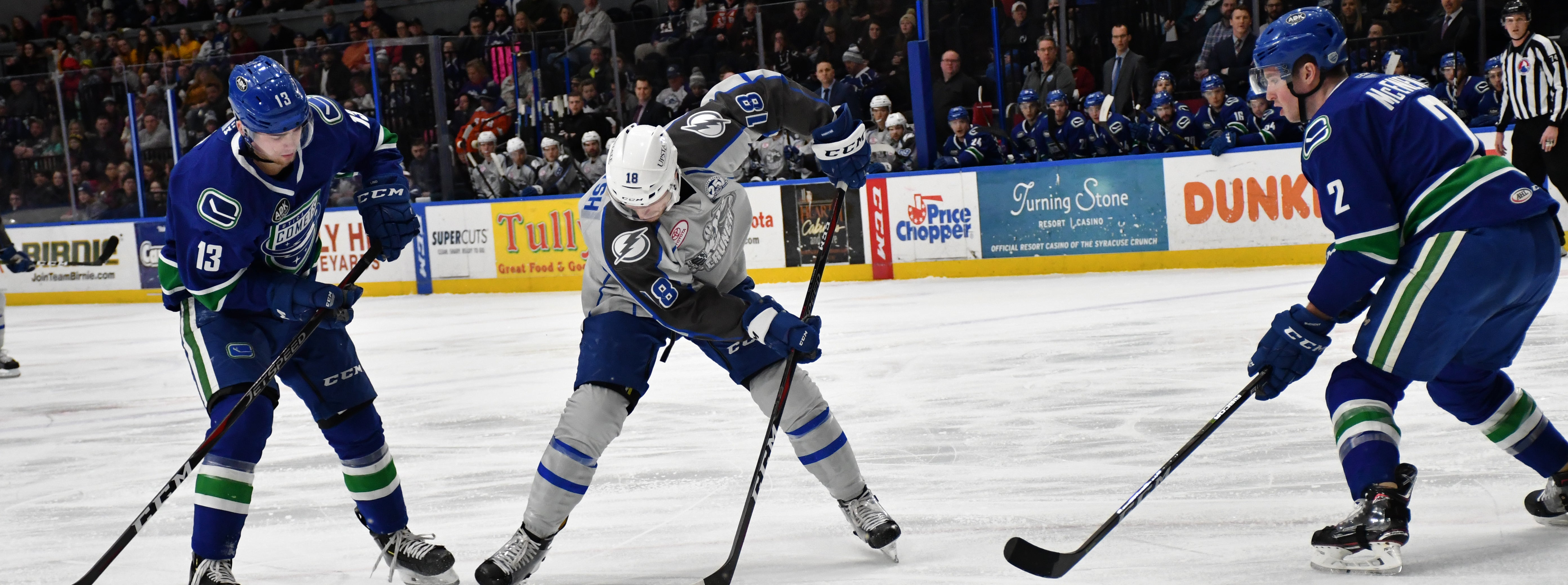 COMETS SHUTOUT BY CRUNCH ON ROAD