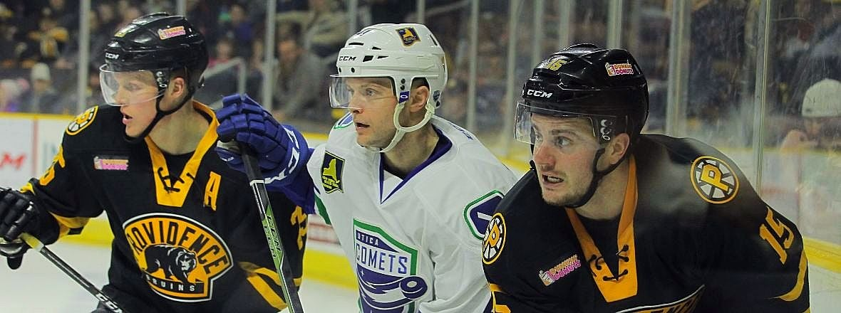 COMETS DOMINATE BRUINS EARLY, WIN 5-2