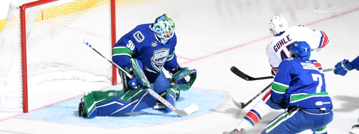 DEMKO'S SHUTOUT LEADS COMETS TO FIRST WIN OF SEASON
