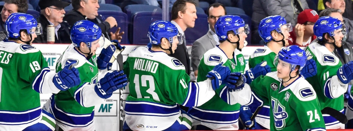 COMETS BATTLE BRUINS FOR FIRST TIME THIS SEASON
