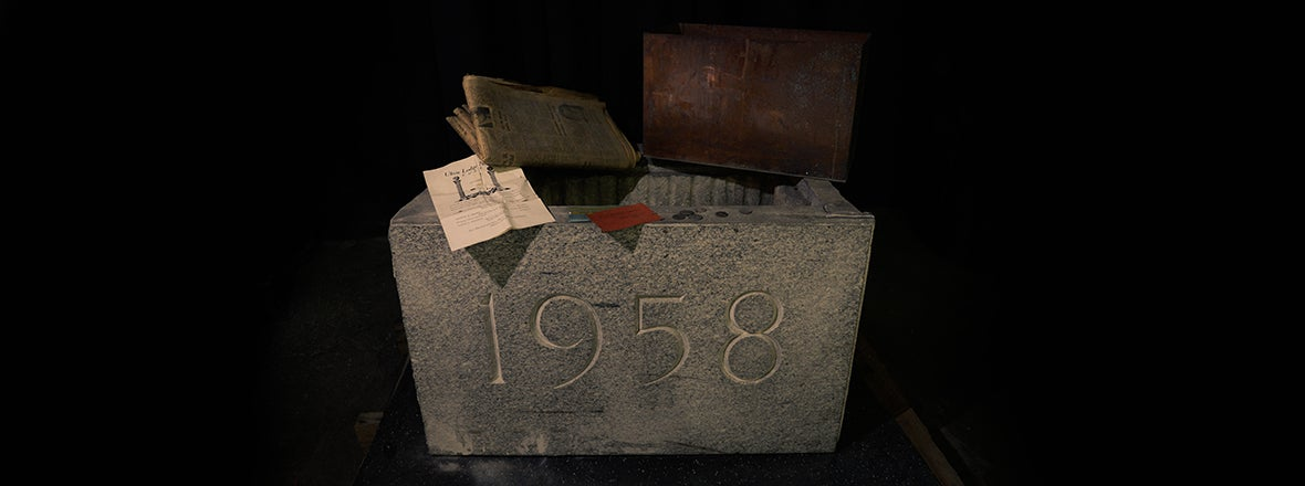 TIME CAPSULE DISCOVERED AT THE AUD