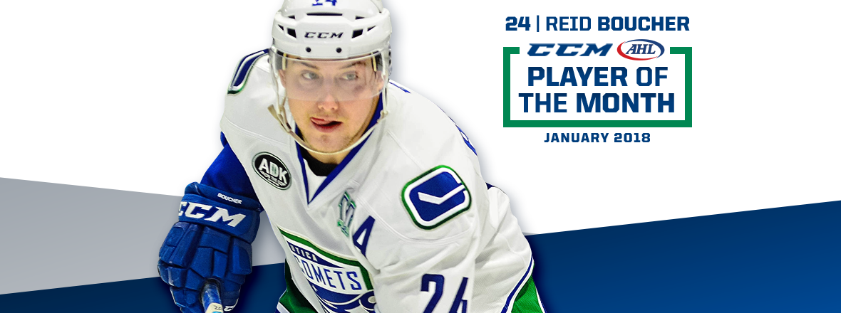 REID BOUCHER NAMED CCM/AHL JANUARY PLAYER OF THE MONTH