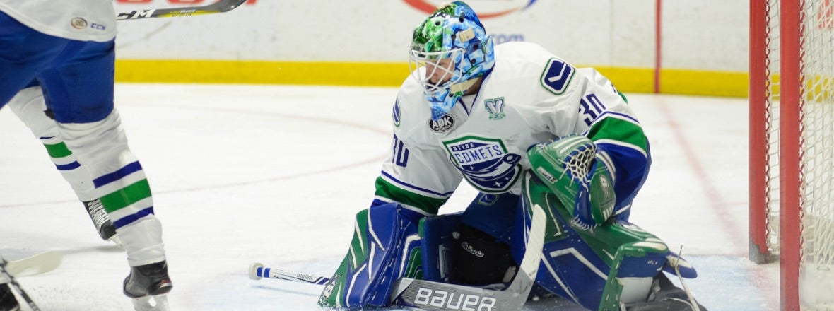 COMETS GO FOR FOURTH STRAIGHT WIN AGAINST BRIDGEPORT