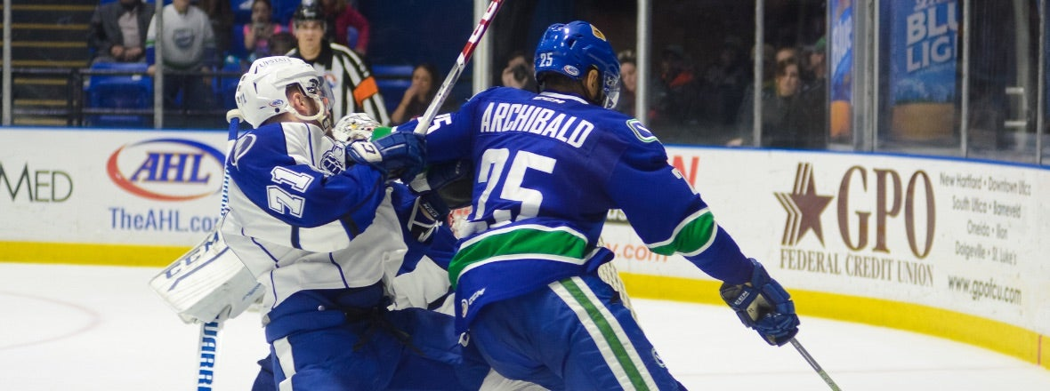 THRUWAY THROWDOWN COMES TO UTICA AS COMETS HOST CRUNCH
