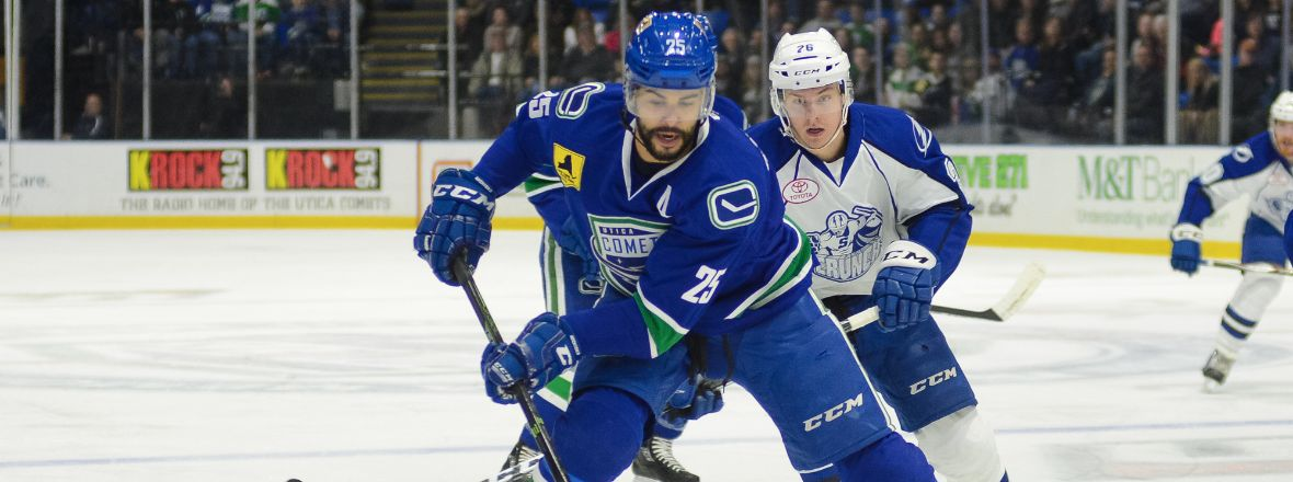 COMETS ALLOW FIVE THIRD PERIOD GOALS IN LOSS