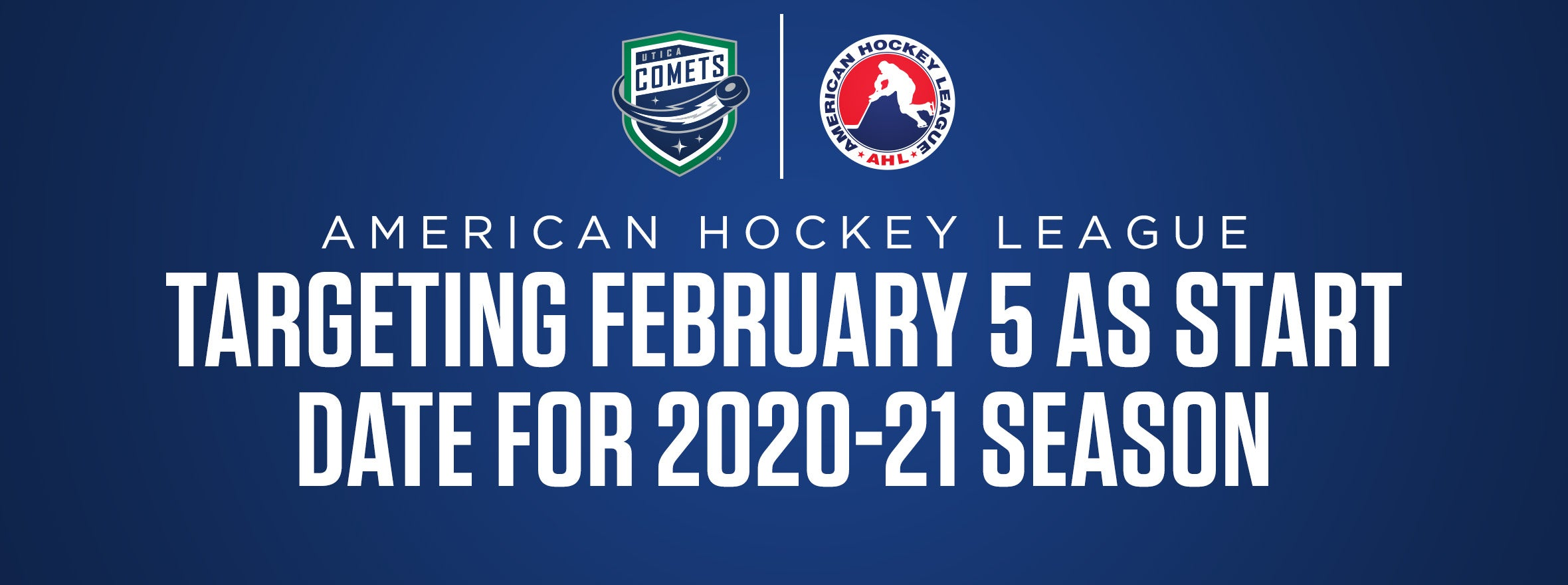 AHL TARGETING FEBRUARY 5 AS START DATE FOR 2020-21 SEASON